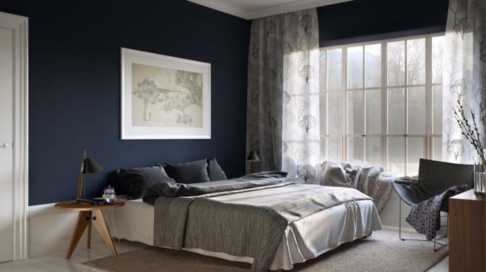 Schlafzimmer Wände Streichen Ideen Exquisit On Auf In Dunklen Schattierungen 4