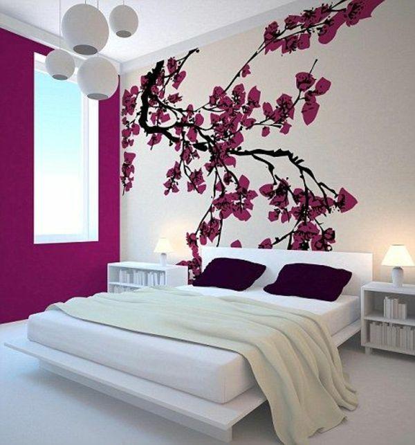 Schlafzimmer Wandgestaltung Beispiele Bemerkenswert On Beabsichtigt Die Besten 25 Ideen Auf Pinterest 9
