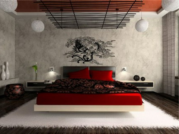 Schlafzimmer Wandgestaltung Beispiele Modern On Mit Schlafzimmerwand Gestalten 40 Wunderschöne Vorschläge 4