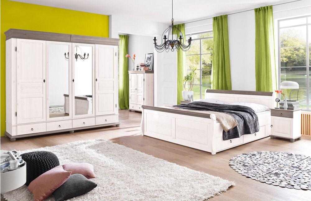 Schlafzimmer Weiß Landhausstil Beeindruckend On In Massivholz Oslo Mit Landhaus Atmosphäre Von Euro 6