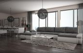 Schöne Grau Weiße Wohnzimmer