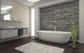 Steinwände Badezimmer