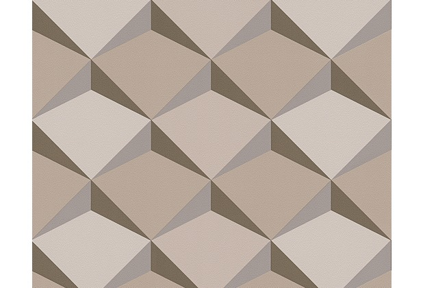 Tapete Beige Braun Bemerkenswert On Auf As Cr Ation Mustertapete In 3D Optik Move Your Wall 2