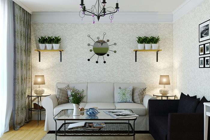 Tapeten Für Wohnzimmer Beispiele Ausgezeichnet On Auf 71 Ideen Wie Sie Die Wohnzimmerwände Beleben 1