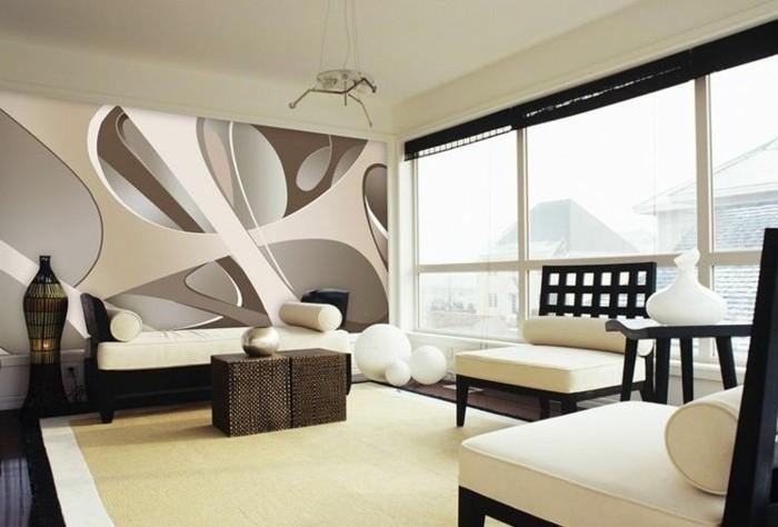Tapeten Für Wohnzimmer Beispiele Ausgezeichnet On Innerhalb Attraktive Ausgefallene 3d Tapete Unikales Gestalten 4