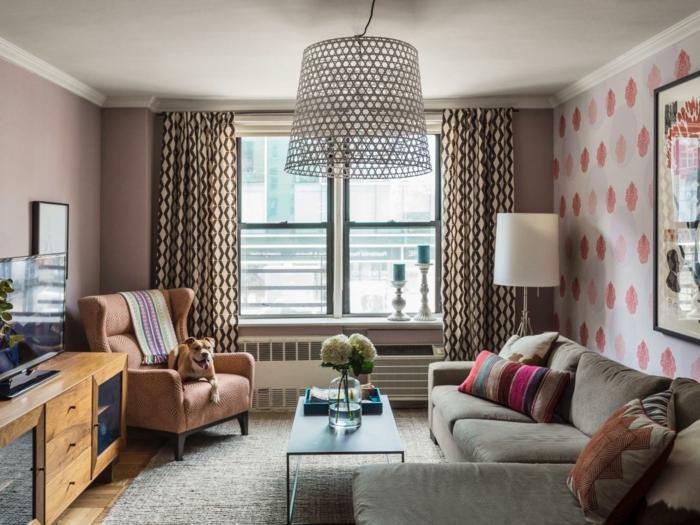 Tapeten Für Wohnzimmer Beispiele Charmant On Beabsichtigt 71 Ideen Wie Sie Die Wohnzimmerwände Beleben 7