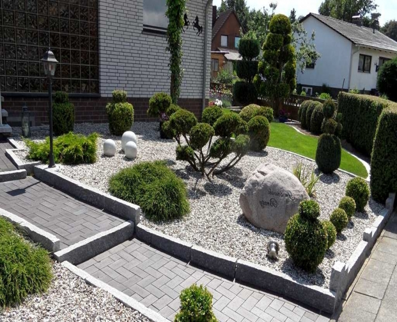 Vorgarten Ideen Frisch On Innerhalb Mit Kies New Garten 4