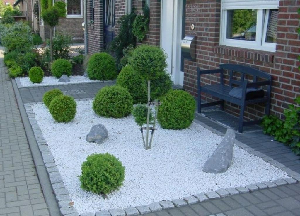 Vorgarten Ideen Wunderbar On Für Kies Gartengestaltung Mit 5