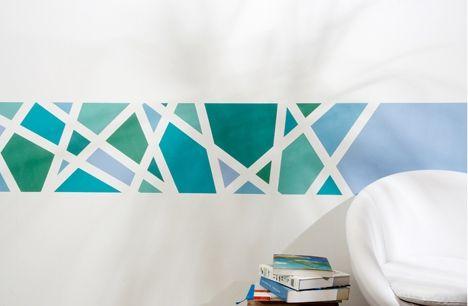 Wand Muster Ideen Erstaunlich On Für Schön Streichen ZiaKia Com Wohnzimmer Küche Zum 3
