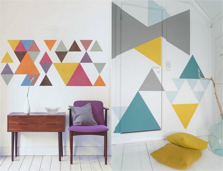 Wand Muster Ideen Glänzend On Und Streichen 65 Für Einen Neuen Look 2