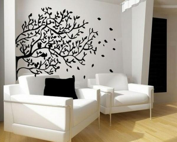 Wand Muster Ideen Wunderbar On Und Wände Streichen Für Das Wohnzimmer Farbe 4