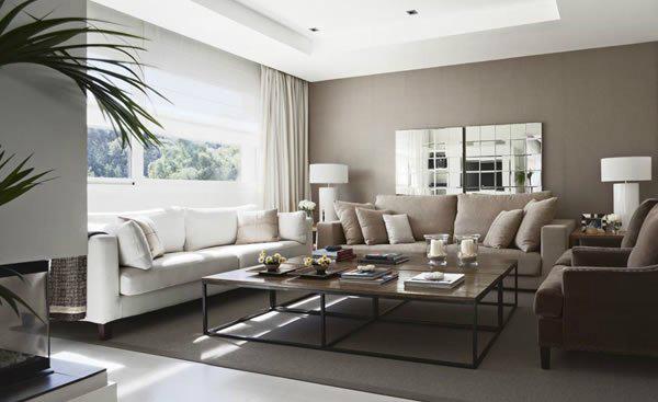 Wandfarben Wohnzimmer Beige Erstaunlich On In Glamourös Weisses 5