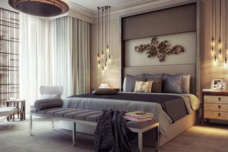 Wandgestaltung Braun Ideen Imposing On In 105 Schlafzimmer Zur Einrichtung Und 8