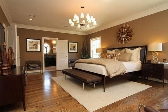 Wandgestaltung Braun Ideen Perfekt On überall Schlafzimmer Amocasio Com 6