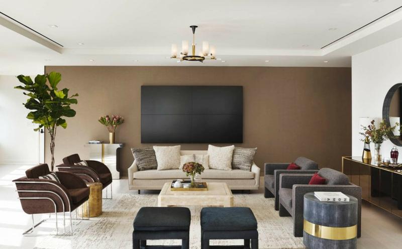 Wandgestaltung Mit Brauntönen Fein On Braun Auf Awesome Contemporary House Design Ideas 8