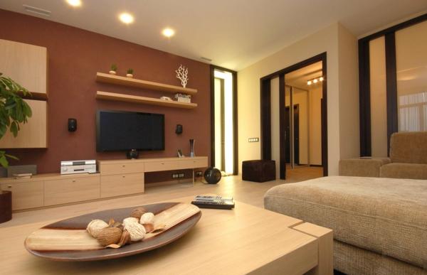 Wandgestaltung Mit Brauntönen Stilvoll On Braun In Wohnzimmer Cabiralan Com 6