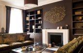 Wandgestaltung Wohnzimmer Braun