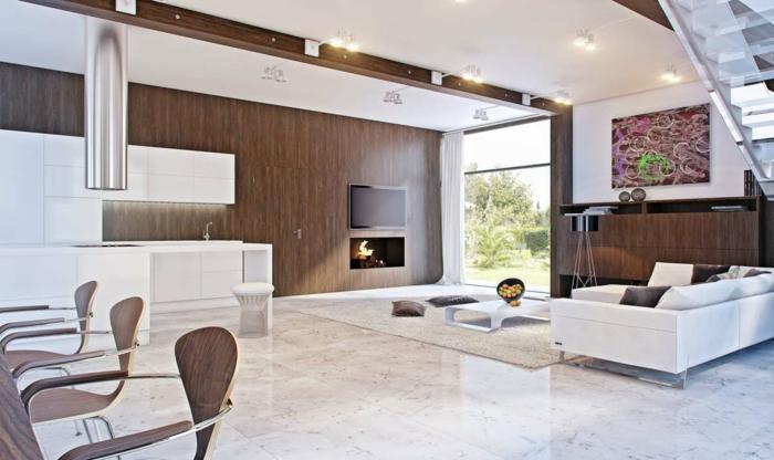 Weiß Braun Wohnzimmer Bemerkenswert On In Bezug Auf Modern Cabiralan Com 8