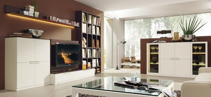 Weiß Braun Wohnzimmer