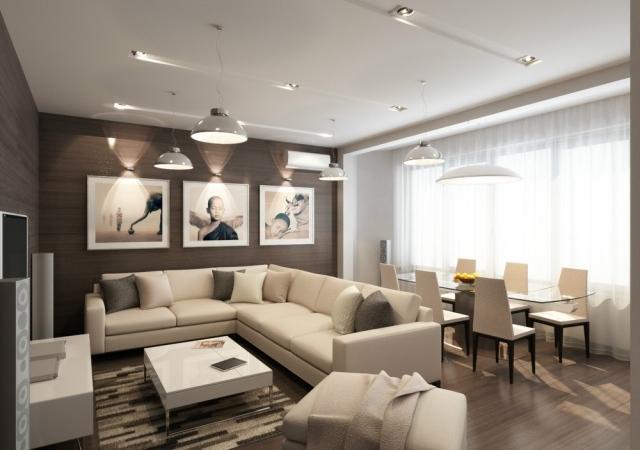 Weiß Braun Wohnzimmer Unglaublich On Innerhalb Beige Weiss Style Finden Sie Ihre Wohnung Dekor 2