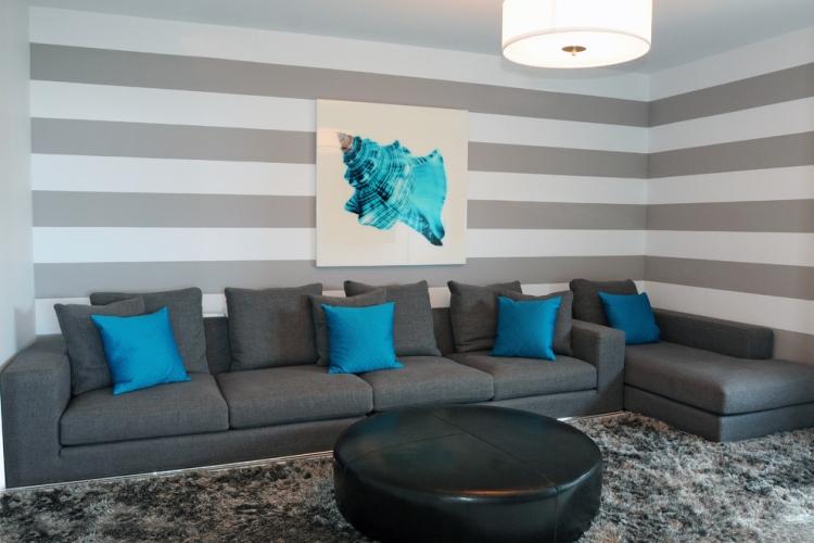 Wohbzimmer Wandgestaltungs Ideen Gestrichen Erstaunlich On In Top Wohnzimmer Wandgestaltung Streifen 65 Wand Streichen 9
