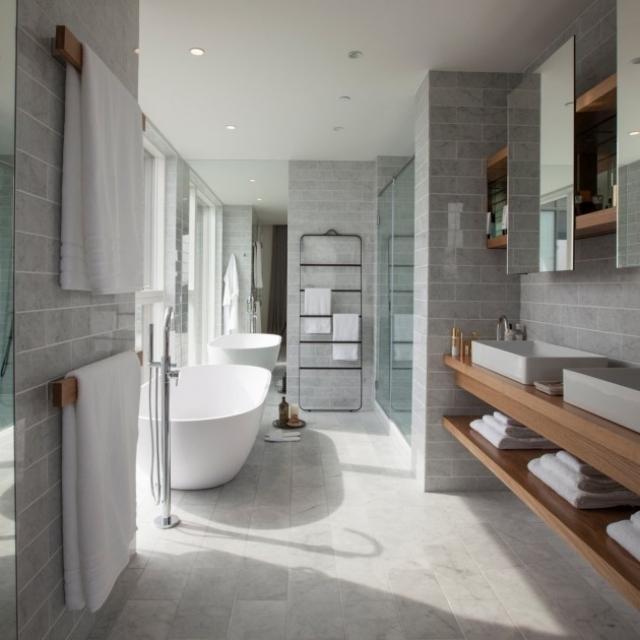Wohnideen Badezimmer Unglaublich On Auf 37 Für Schlicht Heißt Modern 7