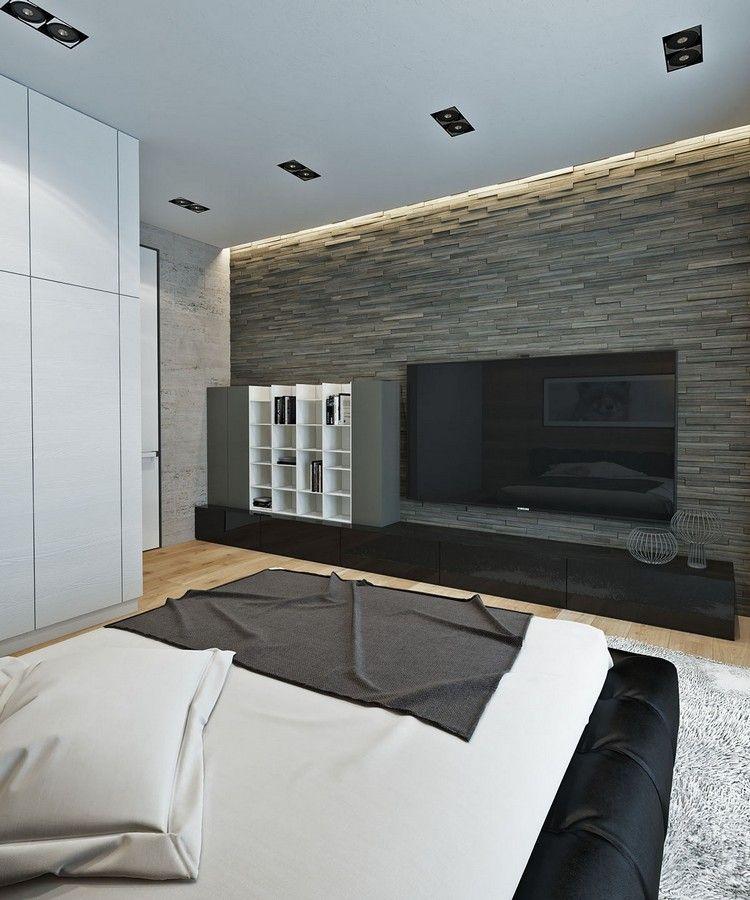 Wohnideen Led Frisch On Ideen Und Einrichten Naturtonen Schlafzimmer Steinwand 2