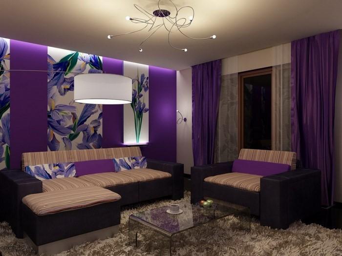 Wohnideen Wohnzimmer Lila Modern On Ideen Und Gestalten 79 Tolle Deko 6