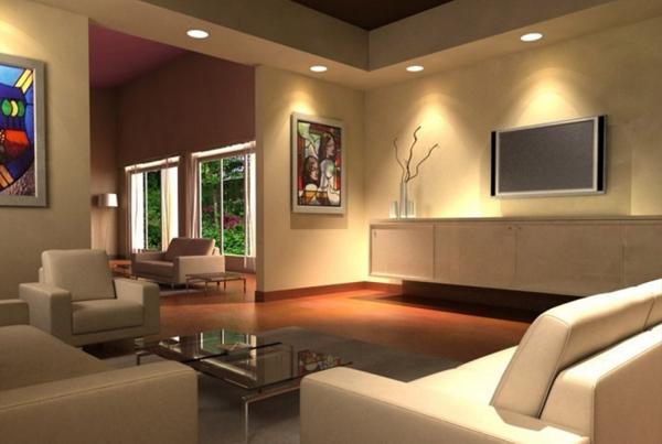 Wohnzimmer Beleuchtung Ideen Imposing On Auf Wohndesign 8