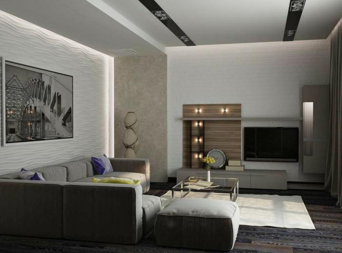 Wohnzimmer Bild Modern Großartig On Für Einrichten 59 Beispiele Modernes Innendesign 7