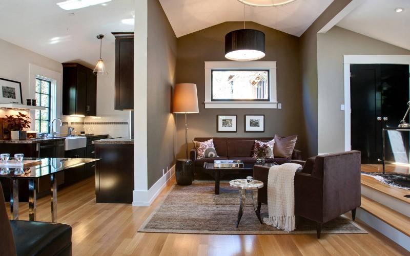 Wohnzimmer Braun Streichen Ideen Kreativ On Beabsichtigt Wandfarbe Zimmer In FresHouse 3