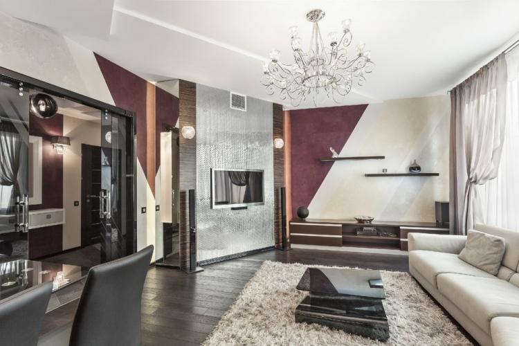 Wohnzimmer Braun Streichen Ideen Nett On Auf 30 Wohnzimmerwände Und Modern Gestalten 7