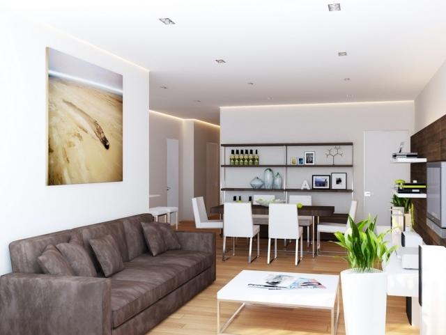 Wohnzimmer Braun Weiss Einzigartig On Mit Ideen Essbereich Weiß Kombination Modern 1