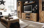 Wohnzimmer Dunkles Holz