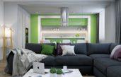 Wohnzimmer Farben Grau Grün