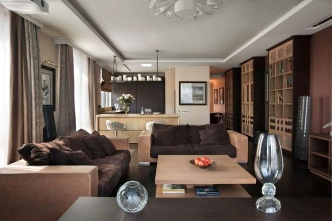 Wohnzimmer Gemütlich Streichen Braun Bescheiden On In Bezug Auf Spritzig Moderne Deko 3