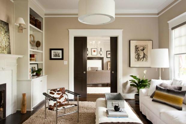 Wohnzimmer Gemütlich Streichen Braun