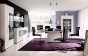 Wohnzimmer Gestalten Lila Schwarz