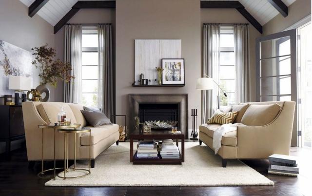 Wohnzimmer Grau Beige Fein On Für Ideen Zum Einrichten In Neutralen Farben 5