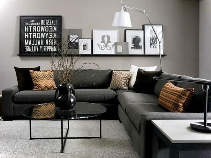 Wohnzimmer Grau Fein On Für Einrichten Köstlich Wohndesign 8