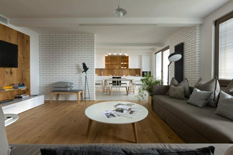 Wohnzimmer Grau Holz Herrlich On Innerhalb Ideen Zur 29 Moderne Beispiele 4
