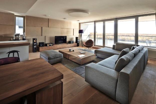 Wohnzimmer Grau Holz Perfekt On Beabsichtigt 3