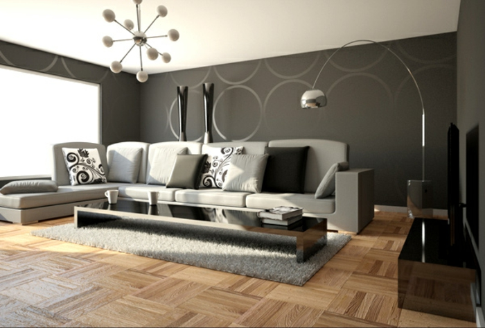 Wohnzimmer Grau Schön On In Bezug Auf 55 Super Designs Archzine Net 5