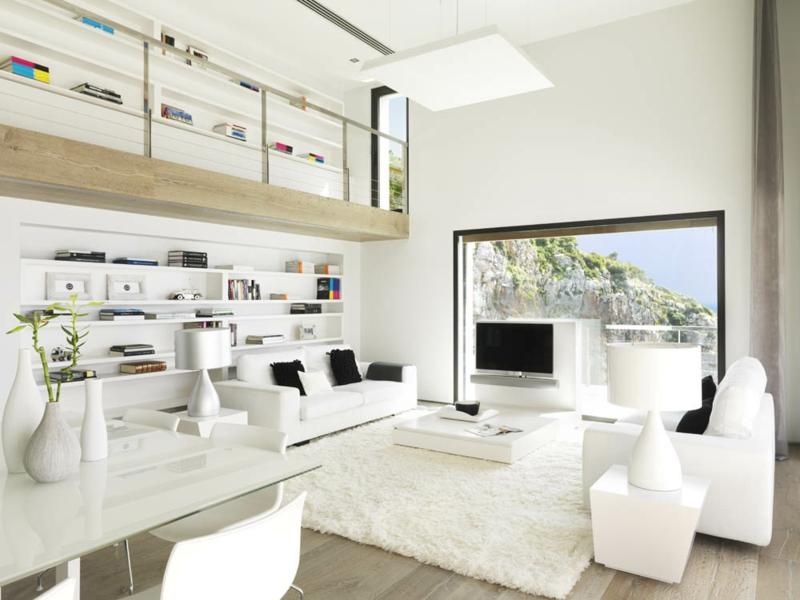 Wohnzimmer Ideen In Weiß Unglaublich On Und 38 Für Weißes Wohnideen Mit Reinheit Eleganz 8