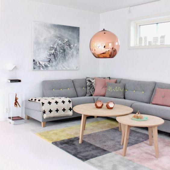 Wohnzimmer Ideen Kupfer Blau