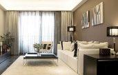 Wohnzimmer In Braun Beige