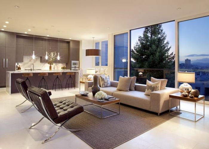 Wohnzimmer Inneneinrichtung Fein On Auf Interessant Moderne 52 Kreative 7
