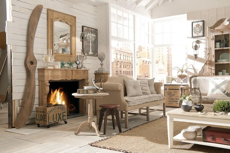 Wohnzimmer Landhausstil Holz Glänzend On Für Im Gestalten 55 Gemütliche Ideen 2