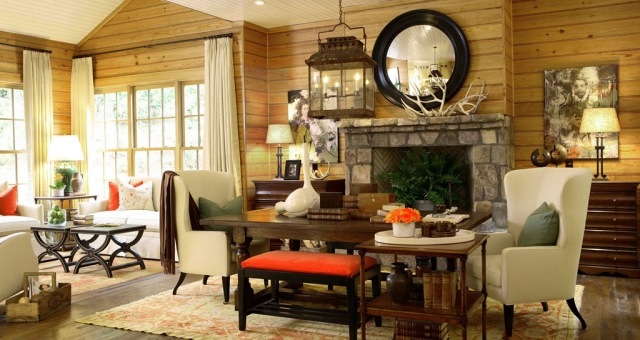 Wohnzimmer Landhausstil Holz Stilvoll On Auf Im Gestalten 55 Gemütliche Ideen 5