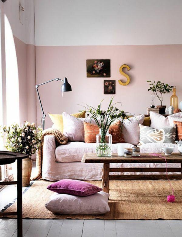 Wohnzimmer Rosa Braun Modern On In Die Besten 25 Ideen Auf Pinterest Pastell 4